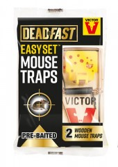 Deadfast Easy Set Mouse Trap - twin pack