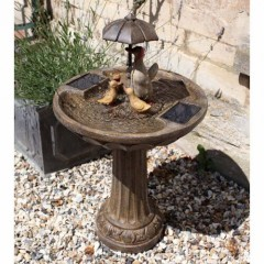Chapelwood Duck Family Fountain