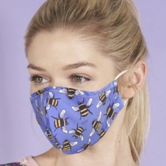 Eco Chic Face Mask - Blue Bees
