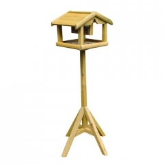 Nature's Market Wooden Bird Table with removal Nut Feeder