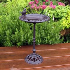 Nature's Market Cast Iron Standing Bird Bath