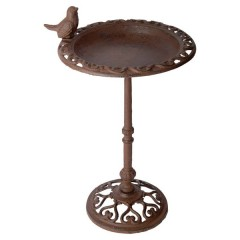 Cast Iron Bird Bath On Pole