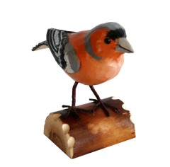RSPB Hand Crafted Wooden Chaffinch with Display Box