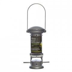 Tom Chambers Pewter Flick 'n' Click Seed Feeder - 2 Port