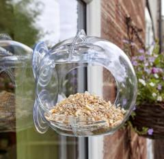 Peckish Globe Window Feeder