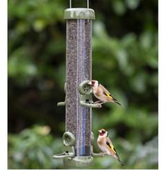 Ring Pull Click Metal Niger Feeder - birds