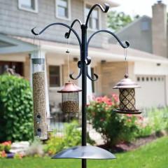 Deluxe Four Way Bird Feeding Station - Black
